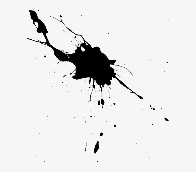 Paint Splatter Splash Ink Drop Splattered, Drip Silhoue - Ink Splash, transparent png #1837124