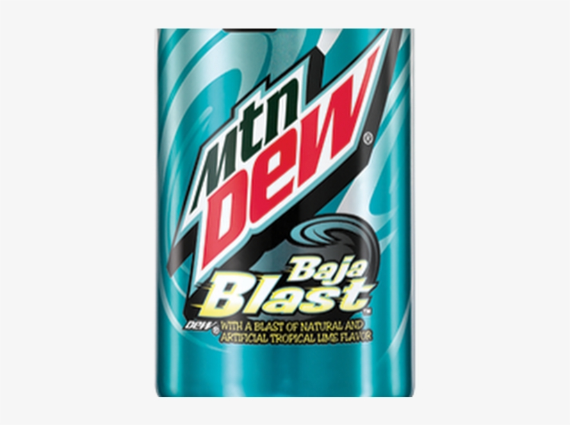 Photo - Mountain Dew Soda, Baja Blast - 12 Fl Oz, transparent png #1837322