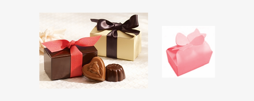 2 Piece Bow Box - Chocolate Boxes For 2 Pieces, transparent png #1839440