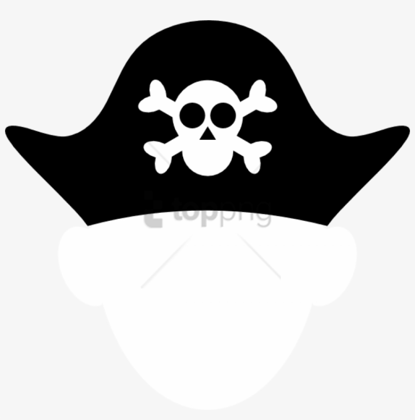 Cartoon Pirate Hat Pictures Secondtofirst Com Best - Pirate Hat Clipart Black And White, transparent png #1840774