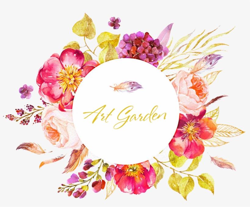 Artgarden / Artgarden Watercolor Flowers, Watercolor - Watercolor Floral Circle Border, transparent png #1841214