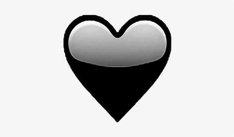 Heart Emoji Png Transparent Graphic Black And White - Emojis De Corazon Negro, transparent png #1841722