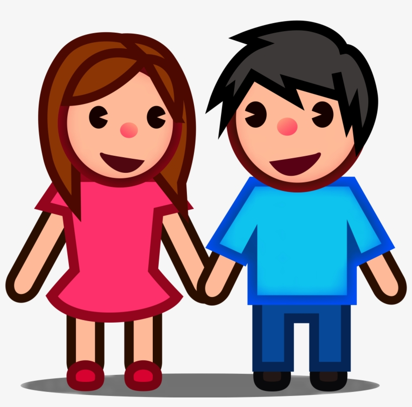 Open - Boy And Girl Emoji Png, transparent png #1842001
