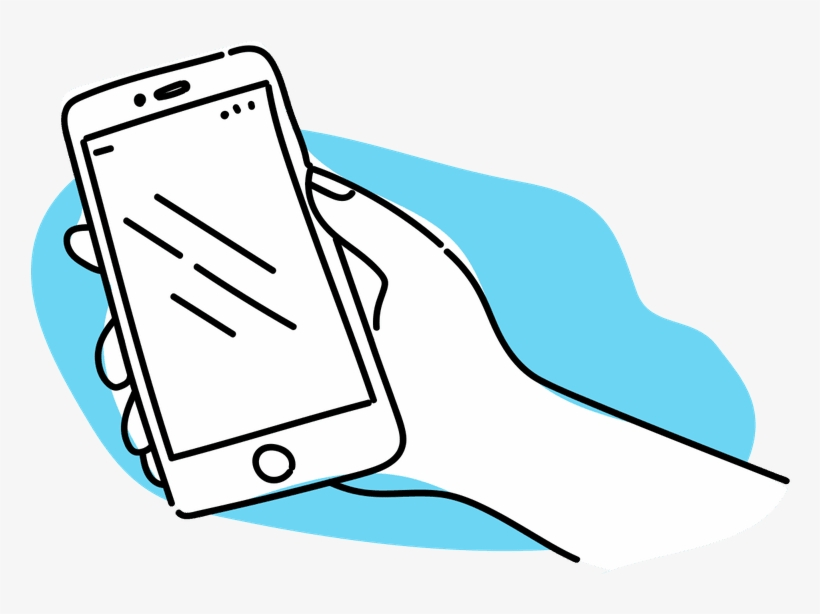 Iphone Clipart Hand Holding - Iphone, transparent png #1842895