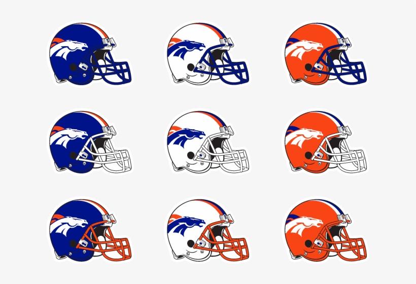 """Broncos-conceptv2 Helmets - Tennessee Titans 12"""" Helmet Car Magnets - Set, transparent png #1842968"""