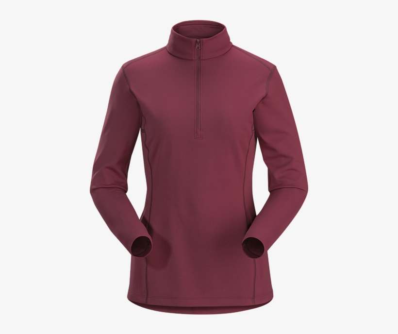 Midweight Phasic™ Base Layer Zip-neck Top For All Round - Arc'teryx Men's Phase Ar Zip Neck Ls, transparent png #1845211
