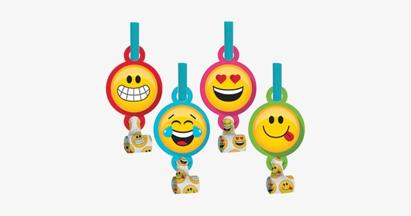 Emoji Sunglasses Happy Birthday Party Whistle Blowers Pack of 5