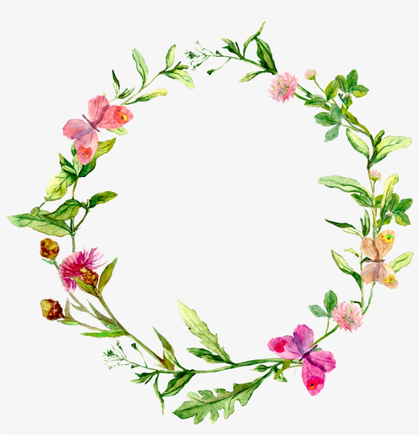 Watercolor Flower Circle Png, transparent png #1847169