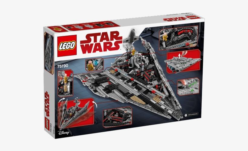 First Order Star Destroyer Lego 75190, transparent png #1847426