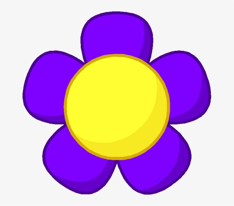 Purple Flower Body - Bfdi Purple Flower - Free Transparent