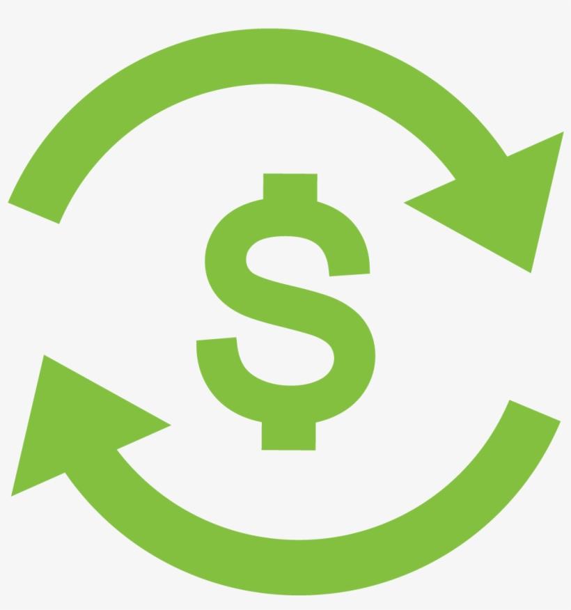 Dollar Sign In Circle Of Arrows - Dollar Sign Circle Arrows, transparent png #1851808