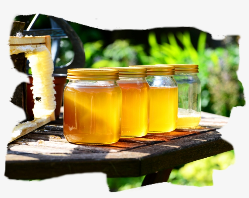 Honey In Jars - Bee Health: Background, Issues, And The Role, transparent png #1852757