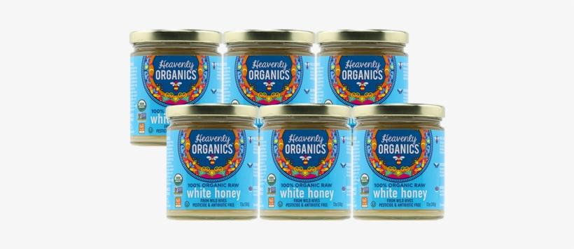 Heavenly Organics - 100 Organic Raw White Honey - 12, transparent png #1852913
