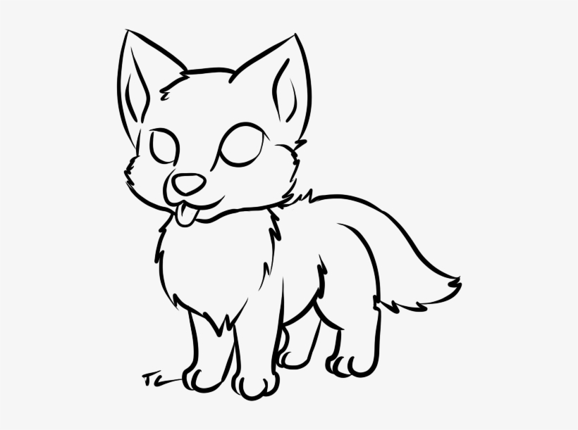Cute Wolf Coloring Pages Drawing