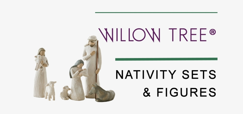 Nativity Sets And Figures - Demdaco Willow Tree Nativity 6 Piece Figurine Set, transparent png #1854452