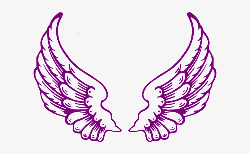Guardian Wings Clip Art At Clker Com Angel Wings Purple Free Transparent Png Download Pngkey
