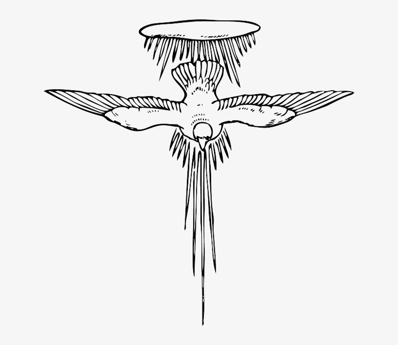 Drawing, Sky, Angel, Bird, Dove, Flying, Wings - Holy Spirit Clip Art, transparent png #1857850