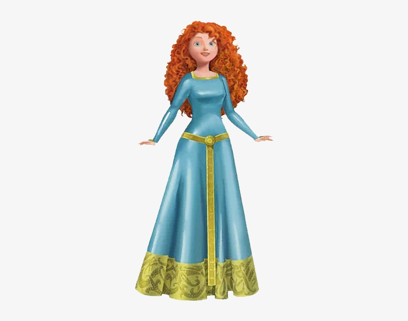 Meridablue 294×578 Pixels Disney Princess Merida, Brave - Princess Merida Blue Dress, transparent png #1858507
