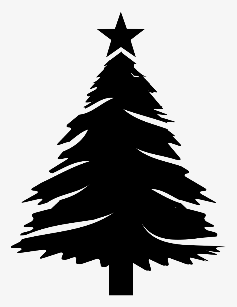 Christmas Tree With Star - Pine Christmas Tree Svg, transparent png #1859354