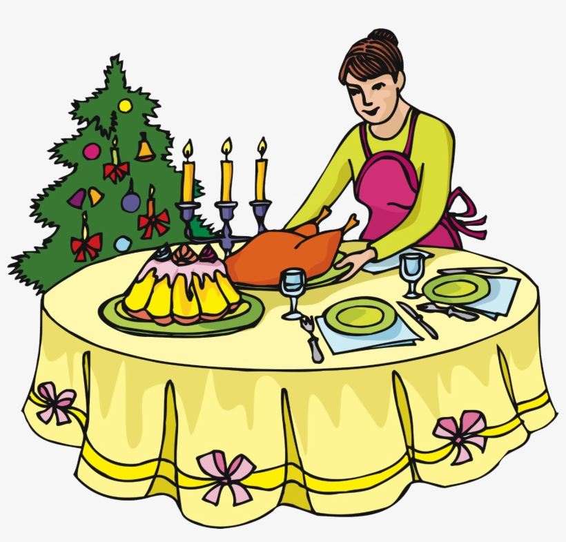 Dinner - Set The Table Clipart, transparent png #1859748
