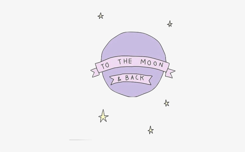 I Love You To The Moon And Back Tumblr Transparent - Moon And Back Transparent, transparent png #1859775