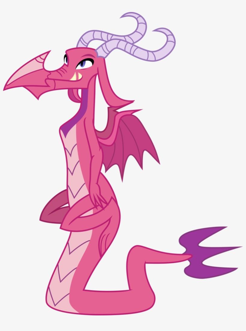Pink1ejack, Background Dragon, Ballista, Dragon, Dragoness, - My Little Pony Pink Dragon, transparent png #1860178