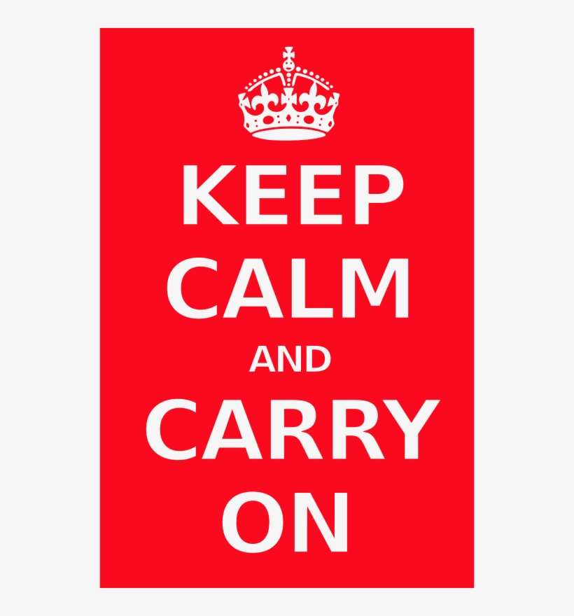 Png Free Library Poster Medium Image Png - Keep Calm And Carry On Svg, transparent png #1861262