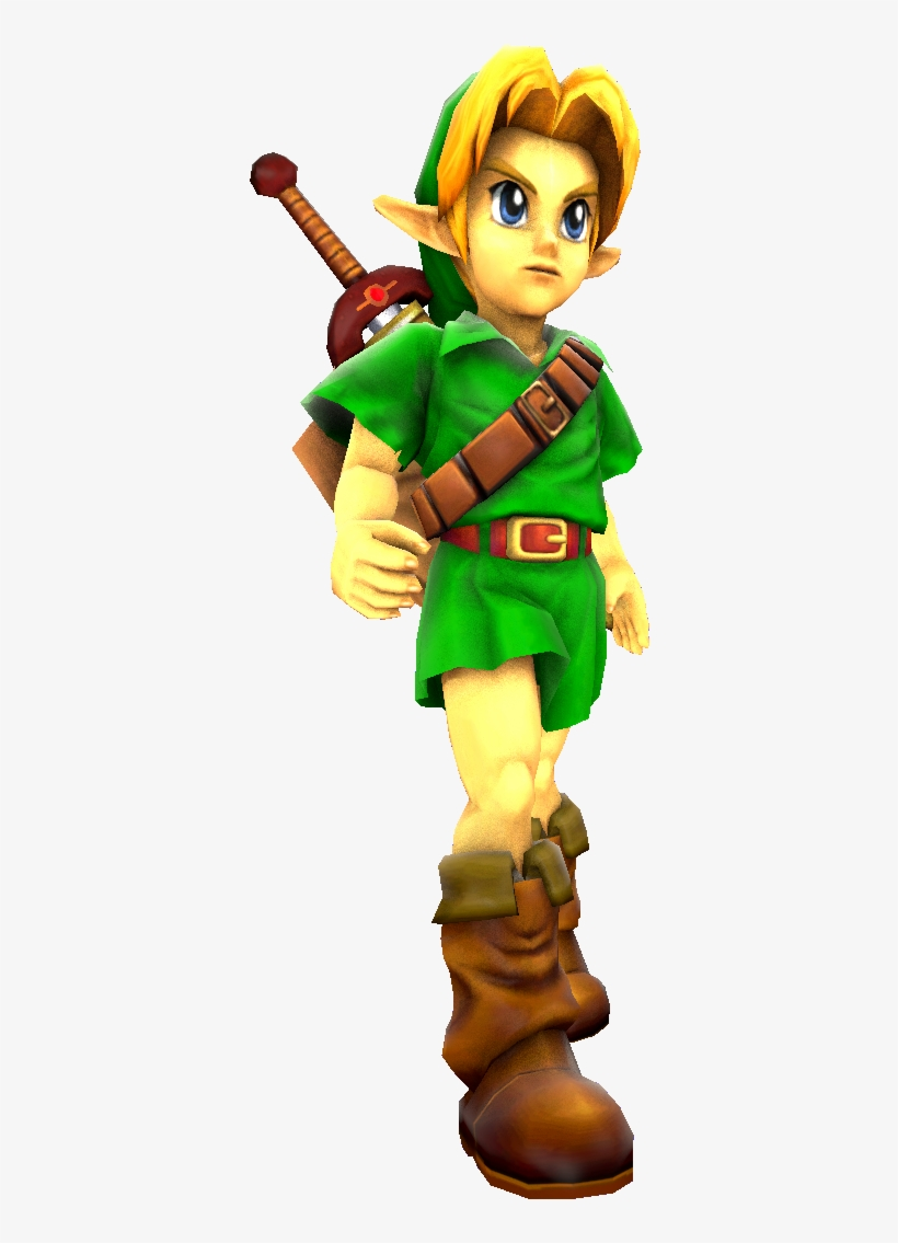 The Legend Of Zelda - Link Ocarina Of Time 3d Png - Free