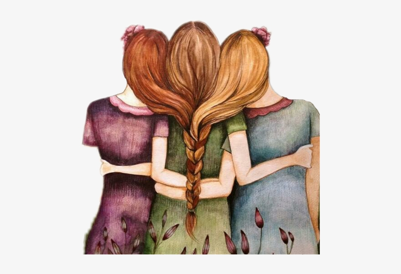 3 Girl Best Friends Cartoon Free Transparent Png Download Pngkey