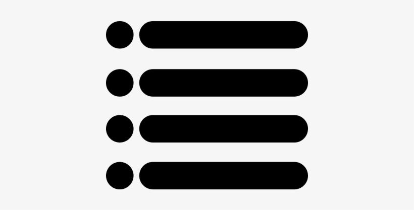 Menu Interface Symbol Of Four Horizontal Lines With Icono De Menu Png Transparent Png