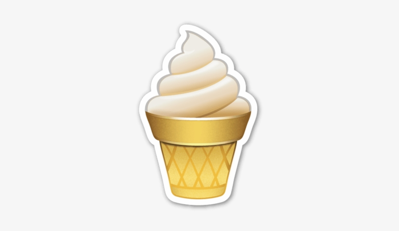 Soft Ice Cream Ice Cream Emoji Icecream Emoji Stickers Emojis