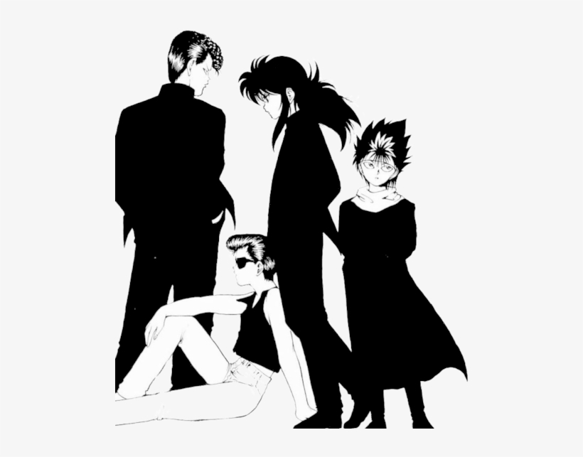 Posted 2 Months Ago With 1,449 Notes - Hiei Yuyu Hakusho Manga, transparent png #1866580
