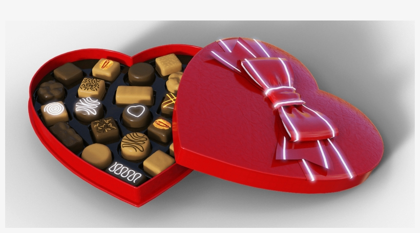 Valentine's Dance Party - Love Heart Chocolate Box Creative Packaging, transparent png #1867591