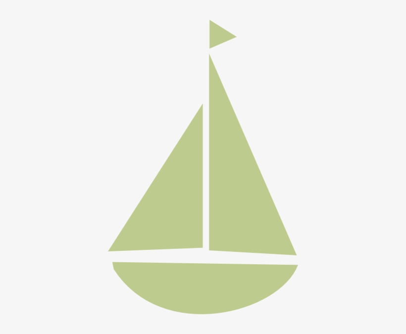 Sailing Clipart Triangle - Green Cartoon Boat, transparent png #1868191