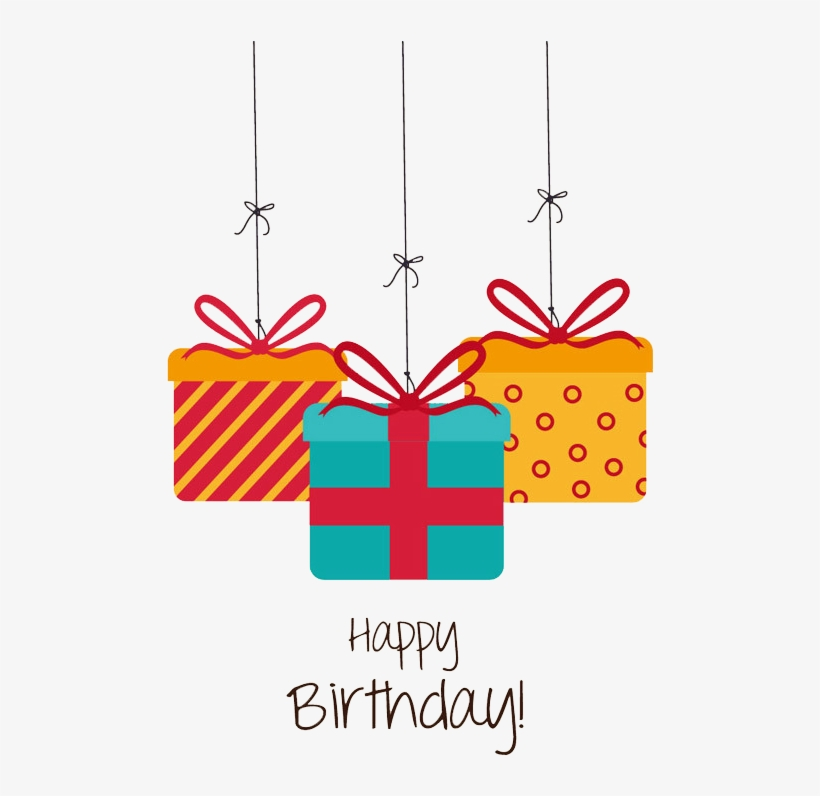 Birthday Gift Greeting Card Christmas - Happy Birthday Gift Box Png, transparent png #1868332