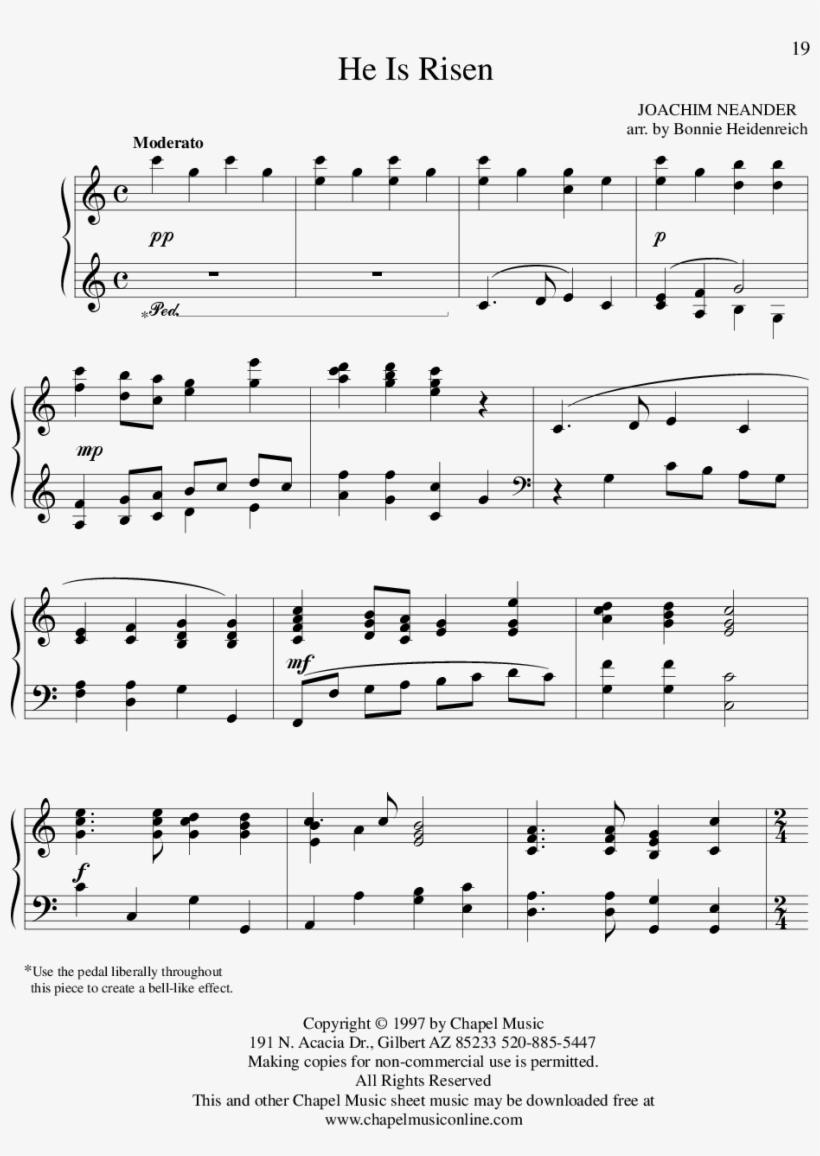 Sheet Music Picture - He Is Risen Hymn Sheet Music - Free