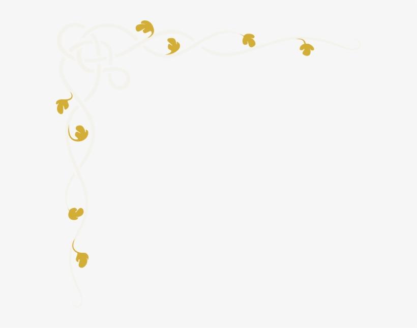 Gold Lens Flare Png - Vine Border, transparent png #1869552