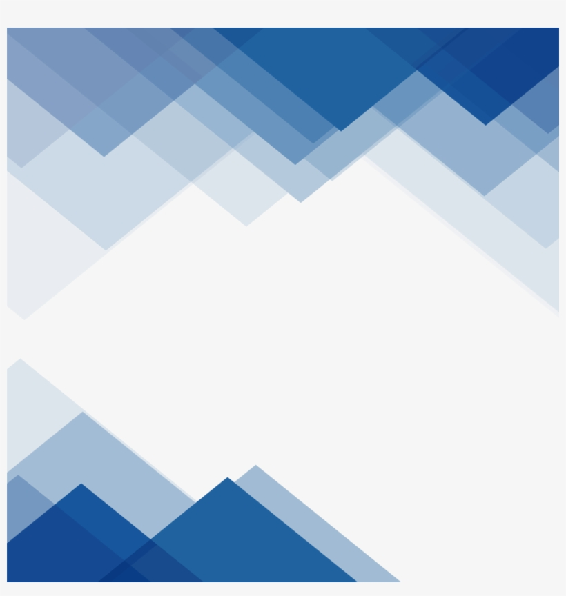 Ftestickers Border Triangular Blue Abstract Triangle Blue