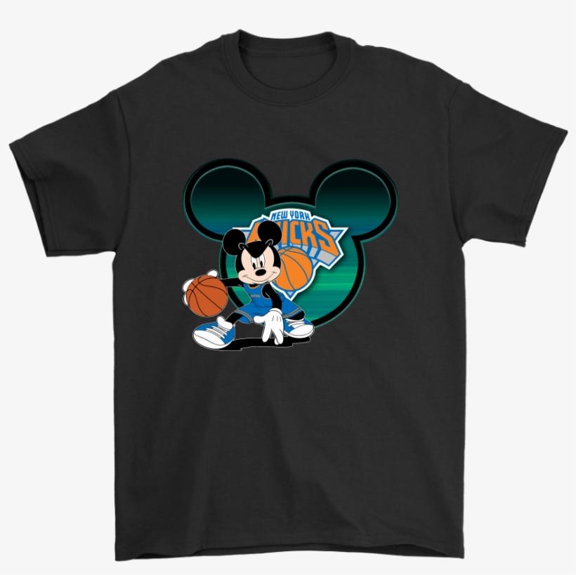 bda2a61d40632 Nba New York Knicks Mickey Mouse Basketball Disney - Fortnite Unicorn T  Shirt