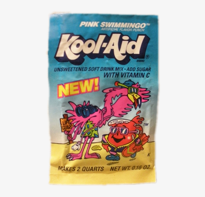 Kool-aid Pink Swimmingo - Kool Aid Sugar-sweetened Soft Drink Mix, Cherry - 4, transparent png #1873265