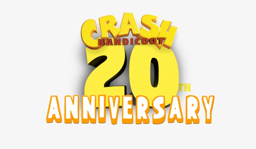 The Day For The 20th Anniversary Of Crash Bandicoot - Graphic Design, transparent png #1873495