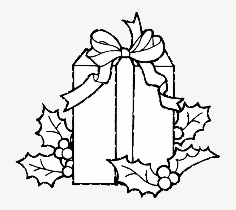 Christmas Presents Coloring Pages - Christmas Gift Coloring Pages, transparent png #1874396