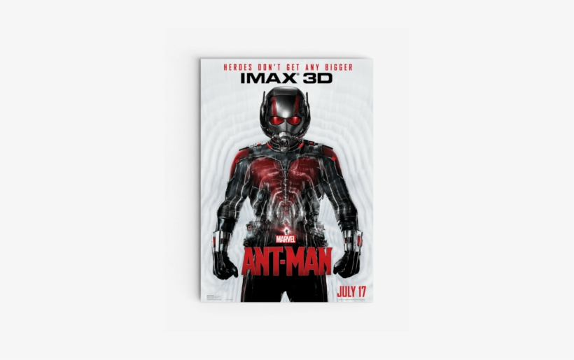 Ant-man Imax 3d Poster - Disney Ant-man (blu-ray 3d + Blu-ray + Digital Hd), transparent png #1874465