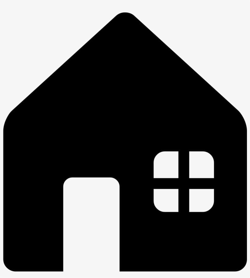Open - House Emoji Png Black N White, transparent png #1875458