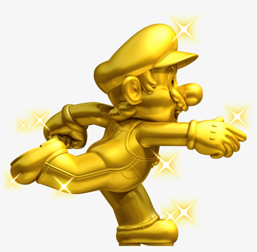 Mario Png Download - New Super Mario Bros 2 Gold Mario, transparent png #1875955