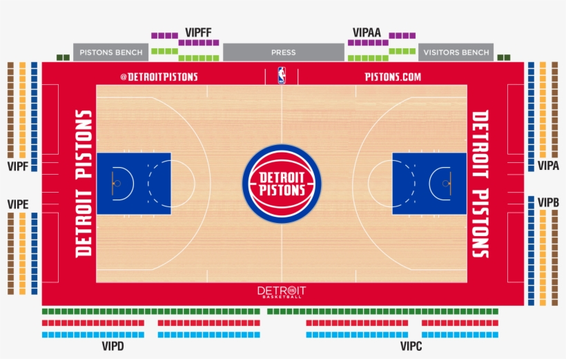 Tap Seating Chart To View Larger - Little Caesars Arena Pistons Seating Chart, transparent png #1880460