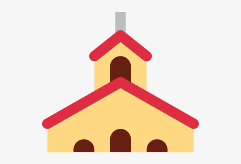 Emoji Clipart Church - Christian Church Symbol, transparent png #1881868