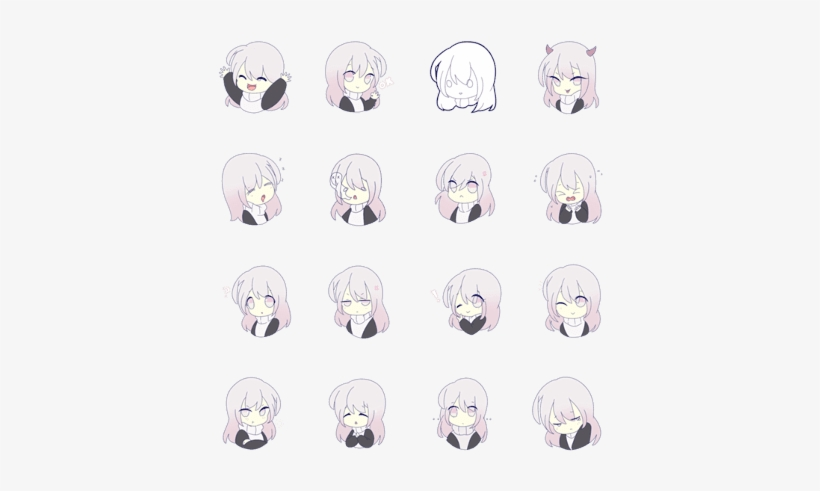 Sell Line Stickers Takara Anime Girl Stickers - Vector