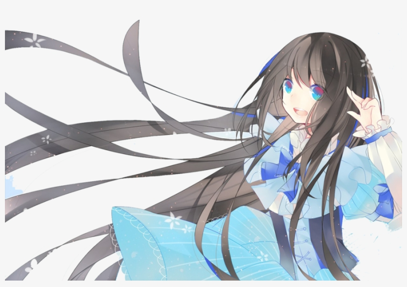 Google Image Result For Http - Anime Black Hair Blue Eyes Female Pokemon, transparent png #1883702