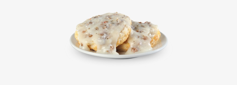 Gravy Biscuit Combo - Biscuit And Gravy Fried Egg And Ham, transparent png #1883792